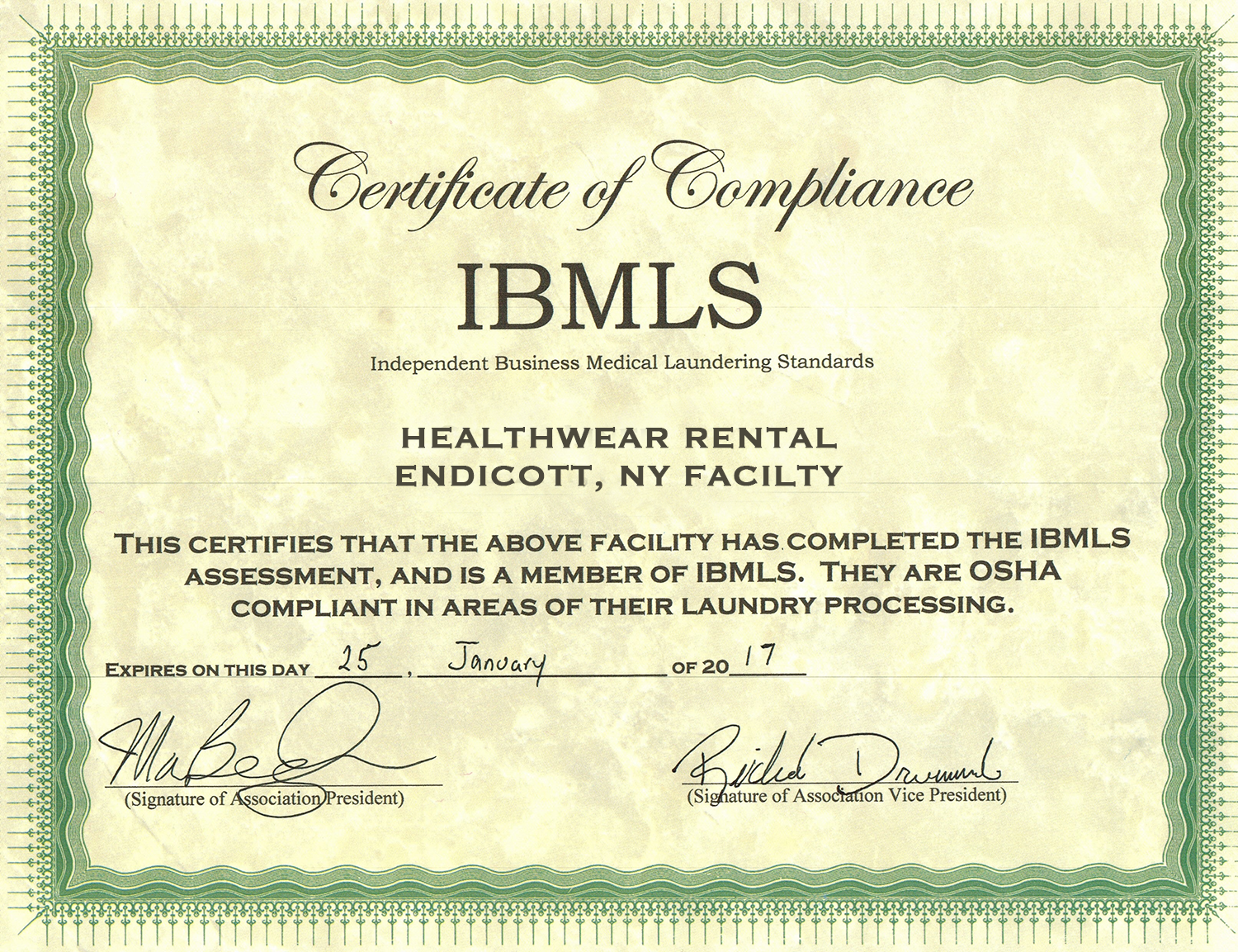 IBMLS-certificate